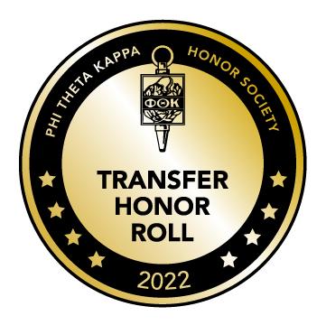 Phi Theta Kappa Honor Society Transfer Honor Roll Logo
