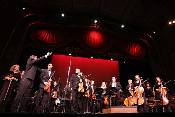 The UT Orchestra was conducted by Frank Tichelli for the annual Composers Festival.