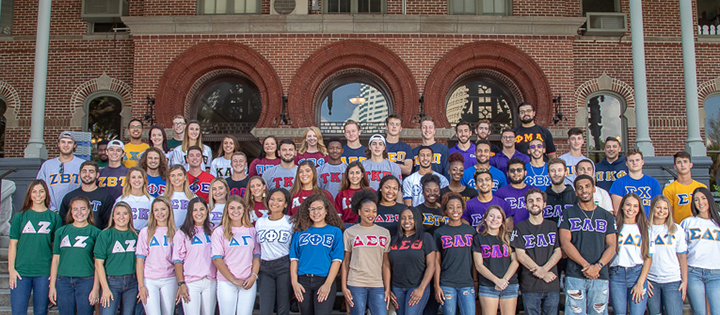 Members of UT's Fraternity and Sorority Life