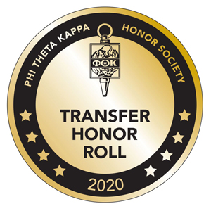 Transfer Honor Roll Phi Theta Kappa Honor Society 2019 Emblem
