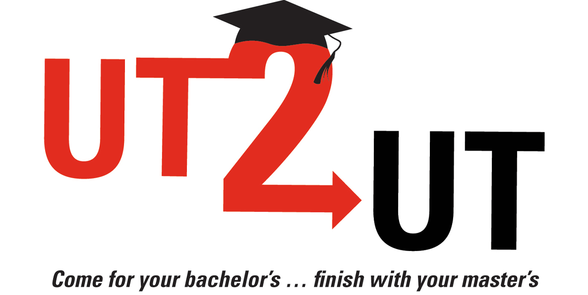 UT 2 UT Come for your bachelor's... finish with your master's Logo