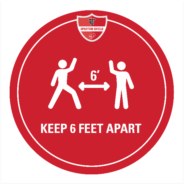 Keep six feet apart