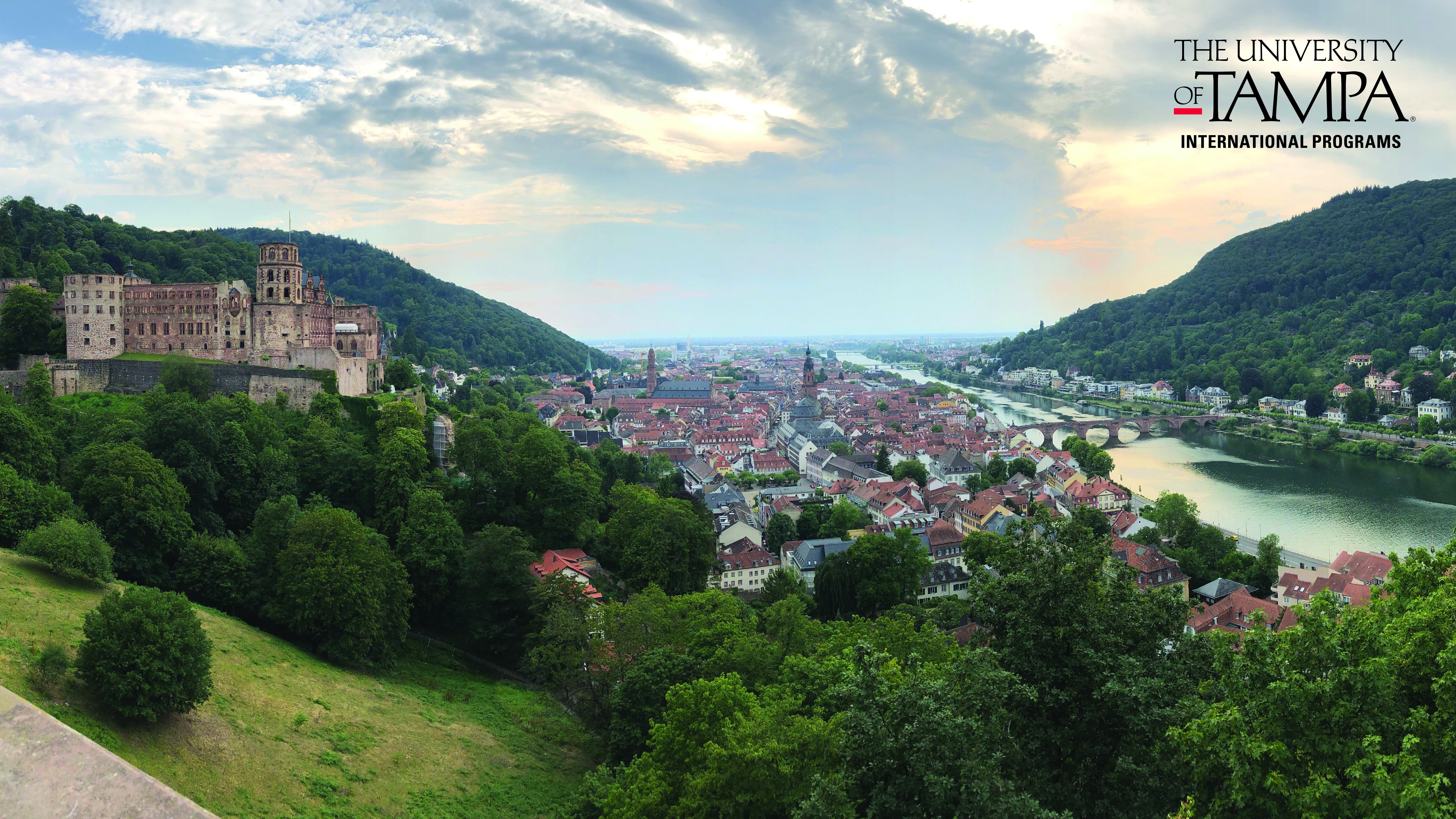 Castle overlooking the town of Heidelberg, Germany (Photographer: Mark Colvenbach, Director, Career Services)