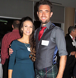 Fraser Houston (Health Sciences and Human Performance) and wife, Kati Houston<br/>