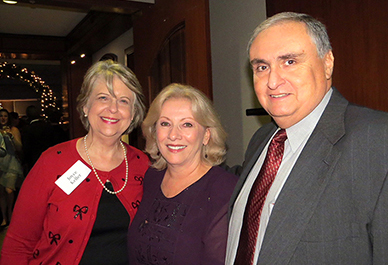 Sykes College of Business' Joyce Keller (left) <br/>with Fernando Nolasco and his wife, Judith Nolasco<br/>