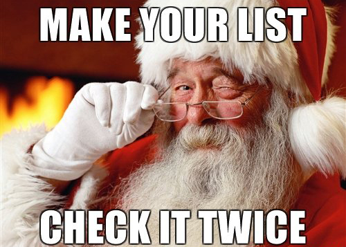 Check your list