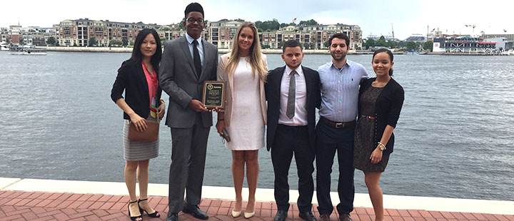 A team of University of Tampa students took second place in the national best practices competition in the Beta Alpha Psi annual meeting, which was held in Baltimore on Aug. 4–6.