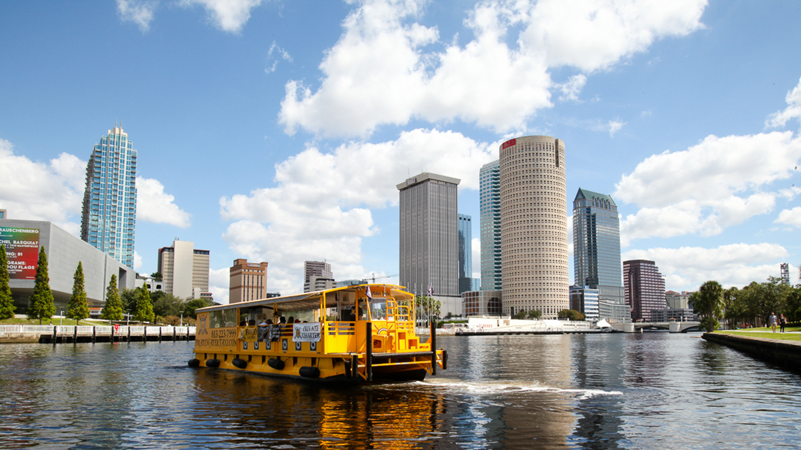 Water taxi on hillsborough river