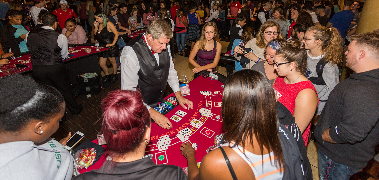 Students at Casino Night