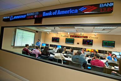 The Financial Trading Center provides a<br/> hands-on dimension to finance education.<br/>