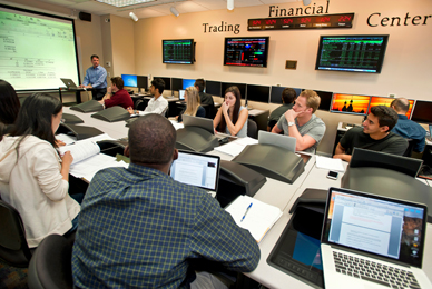 Finance degree students are prepared for careers<br/> in commercial banking and financial services.<br/>