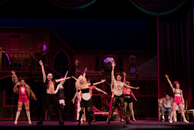 More than 20 student performers staged the<br/> uproarious musical comedy The Rocky Horror Show.