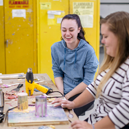 The art studios are open 24-hours to <br/>create a space for students to work outside<br/> the classroom