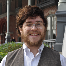 Noah Oakley '19 studied topics of sexual and gender <br />identity in Ernest Hemingway's letters and interviews. <br />He presented his research at the American <br />Comparative Literature Association's Annual Meeting.<br />