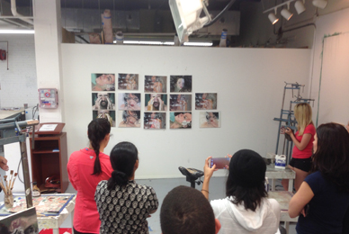 STUDIO-f artists work in collaboration<br/> with a master printer for 10 days.<br/>