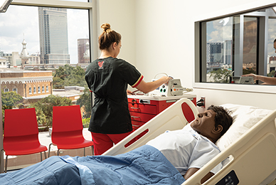 The UT nursing program has formal affiliations with<br/> more than 120 clinical agencies and practices.<br/>