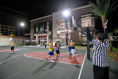 The intramural leagues and tournaments <br/>are offered in a variety of sports.<br/>