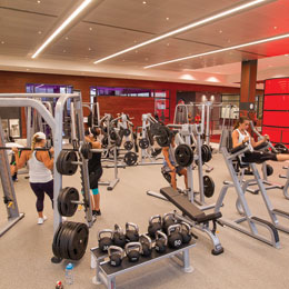 The University of Tampa has built<br/> a new fitness center in the heart of campus.<br/>
