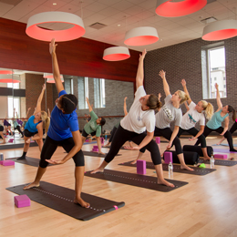 Yoga classes provide stretches and breath<br/> work to balance body, mind and spirit.<br/>