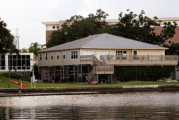 The Boathouse is home to 17 residents.<br/> Residents enjoy the small community, <br/>and a large deck overlooking <br/>the river and downtown skyline.