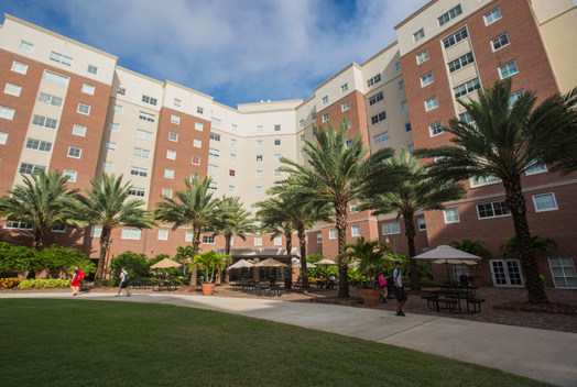 Brevard Hall has suite-style rooms <br/>with shared bathroom and common area.