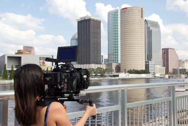Students studying film and television have <br/>access to industry grade cameras and equipment, not to <br/>mention stunning locations.