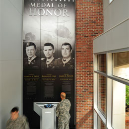 Three UT alumni, Harold A. Fritz '75, <br/>Ronald E. Ray '72 and James A. Taylor '72 <br/>are Medal of Honor recipients.