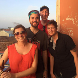 The team on the PEACE Alternative Break trip <br/>to Nicaragua takes a break for sightseeing.<br/>
