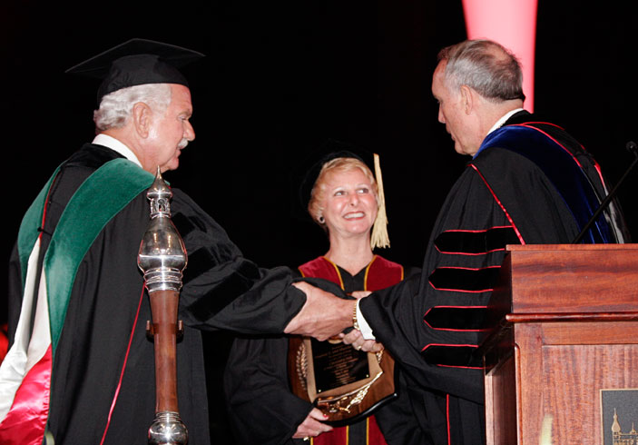 The 2011 Champion of Higher Education in Florida Award recipients are Stephen F. Dickey, M.D. and his wife, Marsha.
