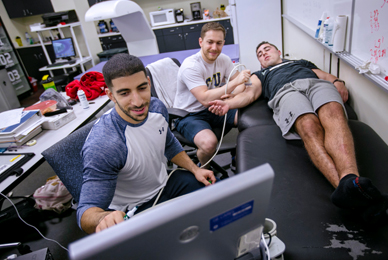Students and faculty researchers are <br/>testing the impact of nutrient programming <br/>on body composition.<br/>