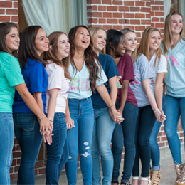 Fraternity and sorority Life at UT provides a home away <br/>from home for many students.