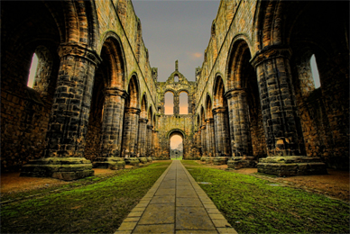 Parker Mitchell '16 toured the Kirkstall Abbey<br/> while studying abroad in Leeds, UK.
