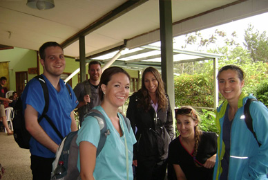 Travel courses, like this one for nursing<br/> students to Costa Rica, combine classroom<br/> learning with in-country experience.<br/>
