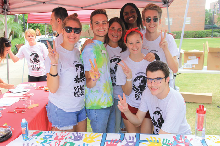 Local youth visited UT for the PEACE Volunteer Center's Carnival.