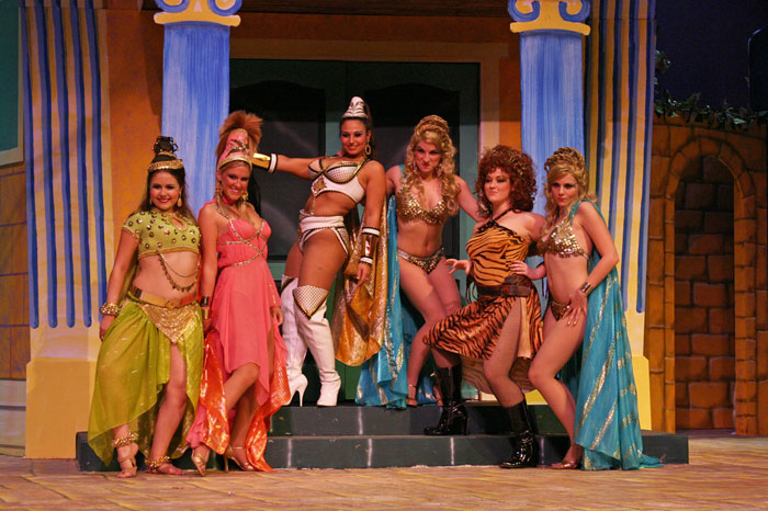 UT Theatre production of A Funny Thing Happened on the Way to the Forum in 2004