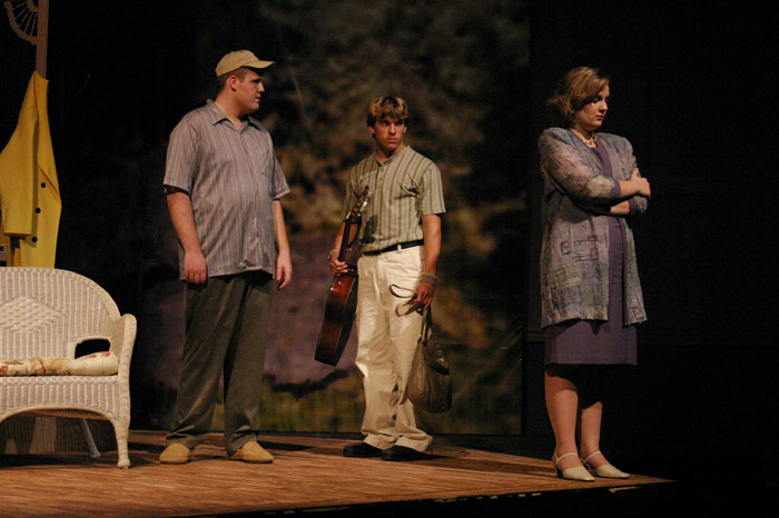 UT Theatre production of The Shadow Box in 2004