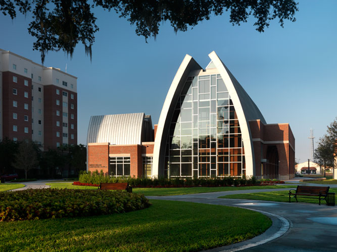 The Sykes Chapel and Center for Faith and Values was built to nurture the development of character of students.