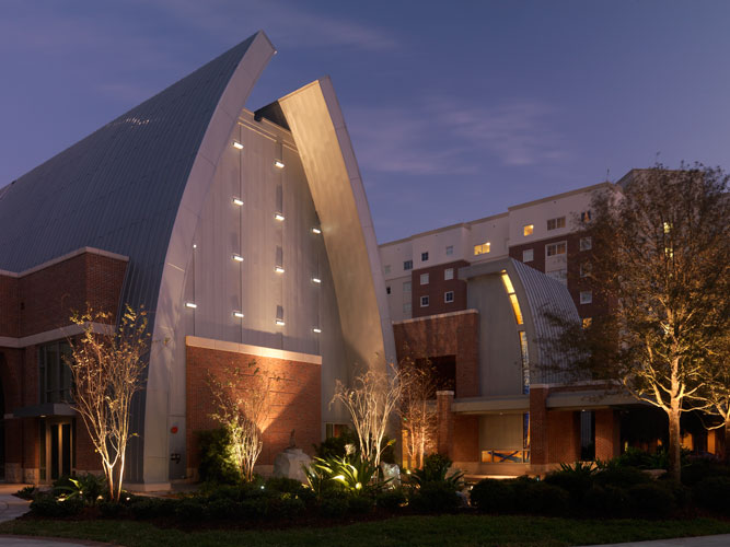 The Sykes Chapel and Center for Faith and Values is meant to be an inspiring setting for meditation.