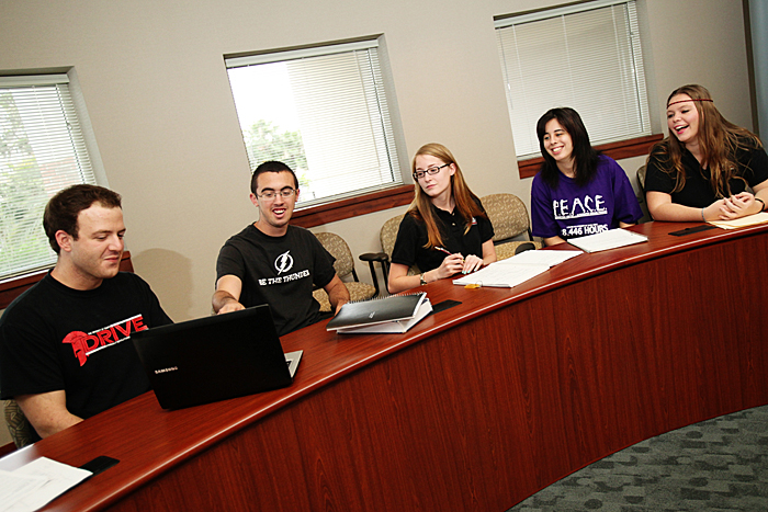 Student organizations are welcome to utilize the meeting spaces located throughout the Vaughn Center.