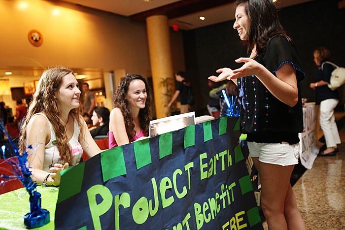 Student organizations are encouraged to market upcoming events by reserving a table in the Vaughn Center lobby.