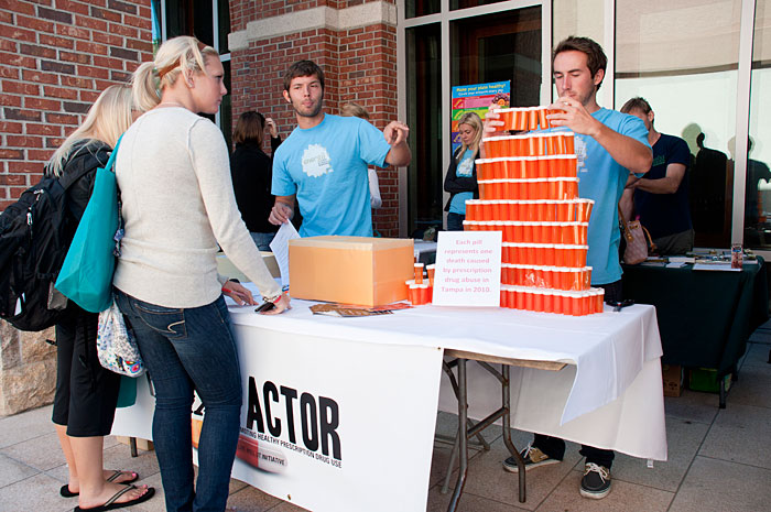 The student organization, Rx Factor, sponsored a booth during the annual Energii Wellness Expo.