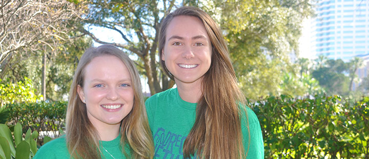 Sophomores Lauren Twele and Jennifer Campbell have started the 200th chapter of the Food Recovery Network on UT's campus.