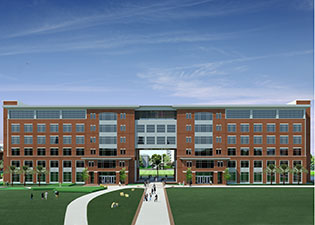 A second phase of the Graduate and Health Studies Building, which includes a twin, 90,000-square-foot adjoining academic building, will also be built in the future, but the timetable has not yet been set.