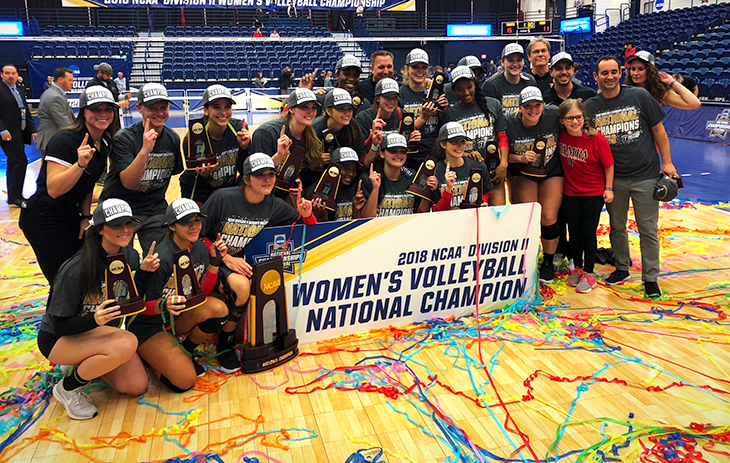 2018 women's volleyball national champions