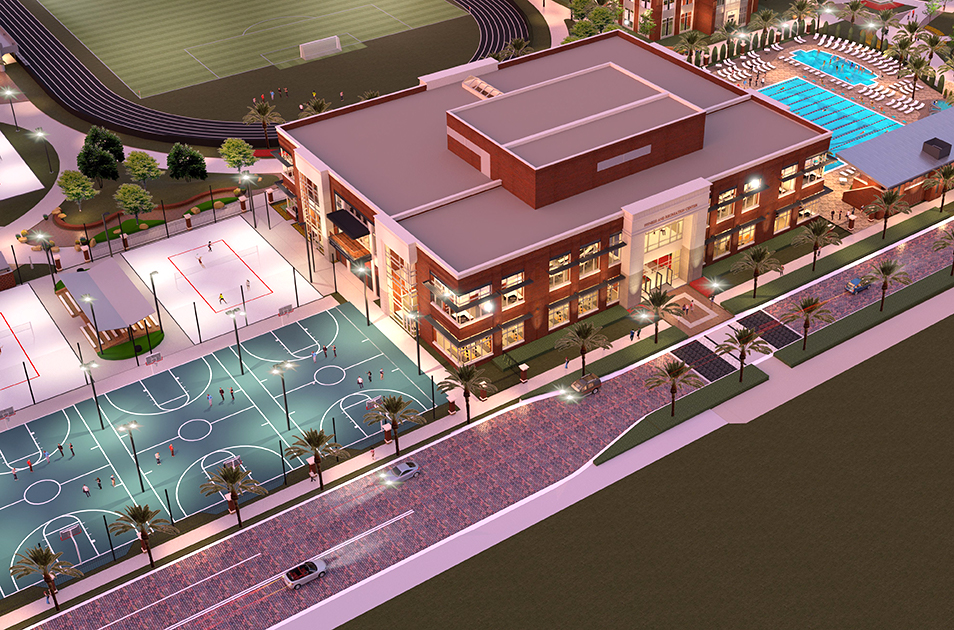 Phase II of the Fitness and Recreation Center