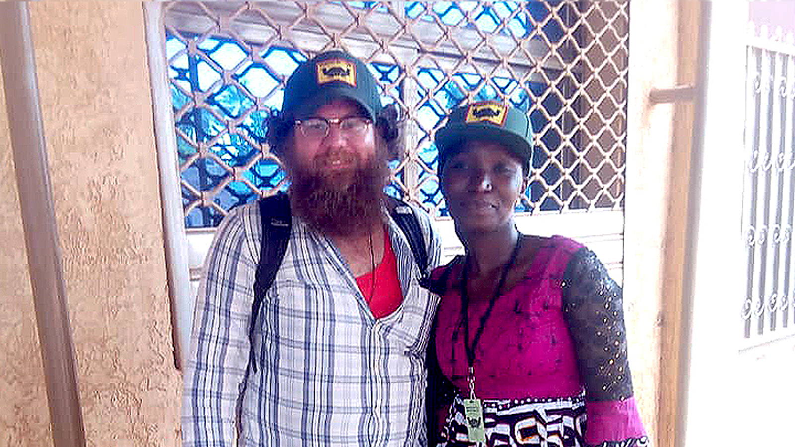 Kevin Fridy and one of his research team members in Burkina Faso