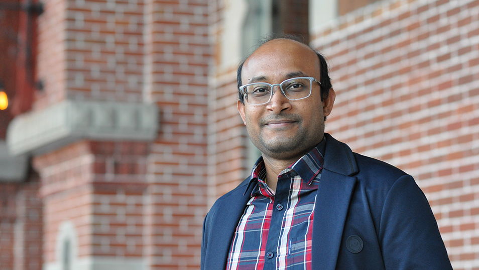 Portrait of Pavan Rajanahalli, assistant professor of biology